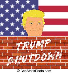 王牌, 政府, 墙壁, january, 手段, -, dc, 描述, 2019:, 美国人, 华盛顿, 停工, 政治...