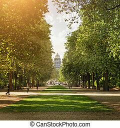 王立の公園, 中に, ブリュッセル
