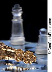 王, 位置, chessboard., defeat., チェス, 勝利