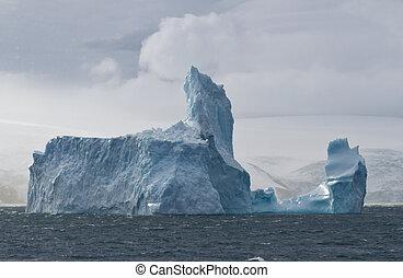 王, 氷山, 島, 海洋, 大きい, 離れて, 海岸, ジョージ