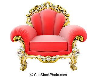 王, 肘掛け椅子