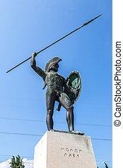 王, leonidas, 像, sparta
