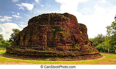 王, malla, nissanka, polonnaruwa, sri, 台無しにされる, 複合センター, stupa, lanka