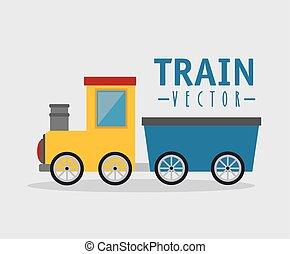 玩具火車, 被隔离, 圖象, 設計