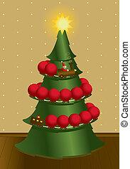 玩具火車, 裝飾, a, 圣誕樹