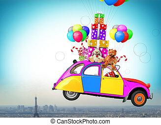 玩具, 以及, 汽車