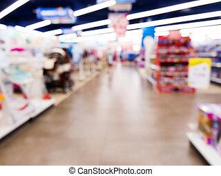 玩具, 孩子, 商店, 背景, 被模糊不清