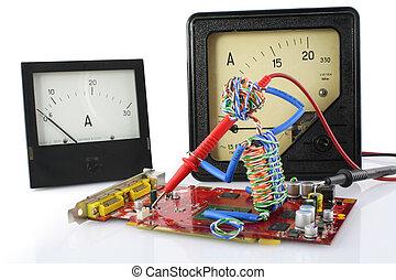 玩具, 技師, 修理, 概念