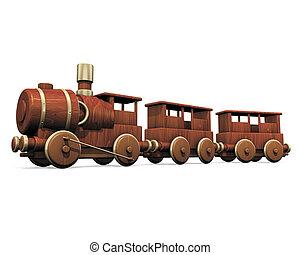 玩具, 木制的火車