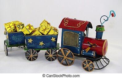 玩具, 蒸汽火車, 由于, 提出, ......的, 金