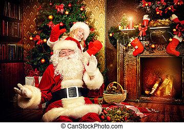 玩, 由于, 聖誕老人