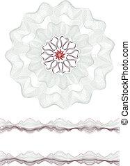 玫瑰形飾物, 邊框
