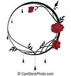 玫瑰, 框架, 輪