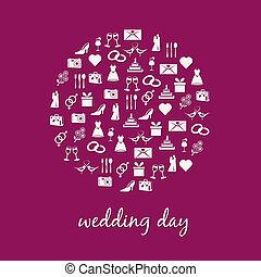 环绕, 婚礼, 图标
