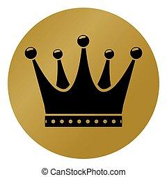 环绕, 概念, 王冠, 图标