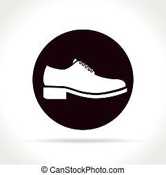 环绕, 概念, 鞋子, 图标