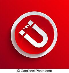 环绕, 矢量, eps10, icon., 红