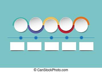 环绕, 色彩丰富, 显示, 图表, 边缘, 组织, 白色
