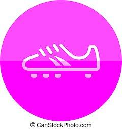 环绕, 足球, -, 鞋子, 图标