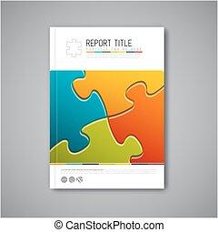 现代, 矢量, 摘要, 小册子, 报告, 设计, 样板