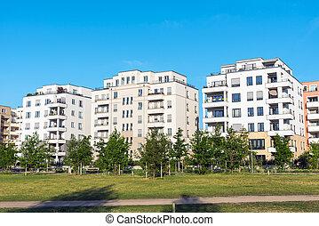 现代, multi-family, 房子, 在中, 柏林