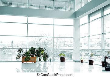 玻璃建築物, 裡面