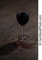 玻璃, 充分, ......的, 酒