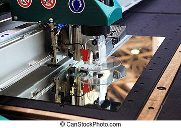 玻璃, 切机器