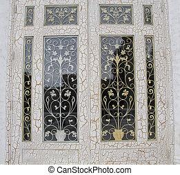 玻璃, 前門, 由于, 裝飾品