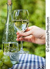 玻璃, 由于, 水