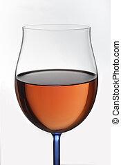 玻璃, 由于, 紅的酒