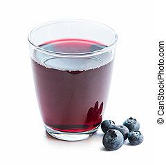 玻璃, ......的, 新鮮, 青梅, 汁, 由于, 烏飯果