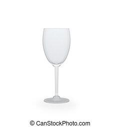 玻璃, 被隔离, 上, a, 白色 背景