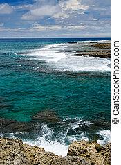 珊瑚礁, 岩石, 海角