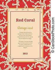 珊瑚, 型, 白, カード