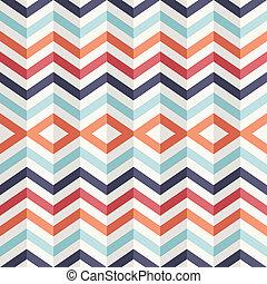 珍しい, 型, 抽象的, pattern., 効果, 幾何学的, 3d