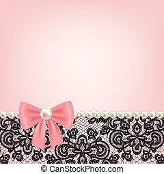 珍珠, 框架, 带子, 背景