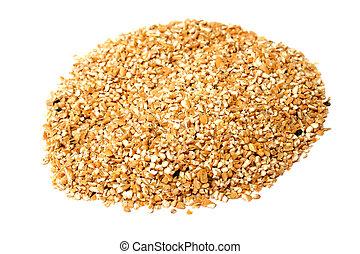 珍珠, 白色, 堆, 被隔离, 大麥
