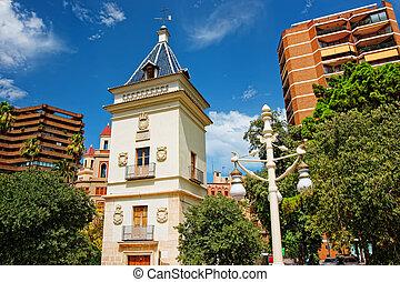 現代建物, 中に, 市民会館, の, バレンシア