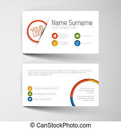 現代的商務, 卡片, 樣板, 由于, 套間, 用戶界面
