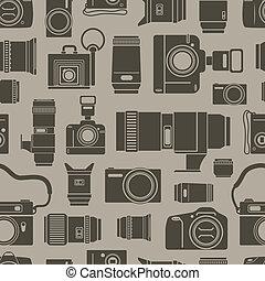 現代, そして, レトロ, 写真, technics, seamless, 背景