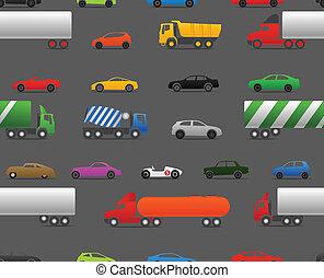 現代, そして, 型, 自動車, そして, トラック, seamless, baclground