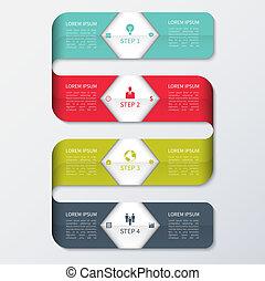 現代, カラフルである, ビジネス, テンプレート, infographics