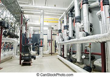 現代, ガス, ボイラー 部屋