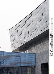 現代, ガラス, 作られた, 構造, 建物