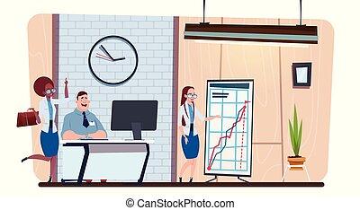 現代, グループ, オフィス, ビジネス, スペース, 仕事, 人々, businesspeople, 一緒に, 創造的, coworking, ブレーンストーミング, チーム