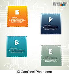現代, テンプレート, infographics