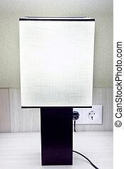 現代, テーブル。, ランプ