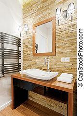 現代, デザイン, 浴室