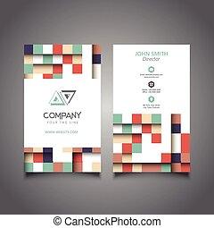 現代 ビジネス, カード, デザイン